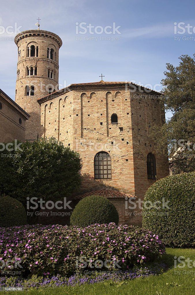 Baptistry of Neon, Ravenna, Italy stock photo