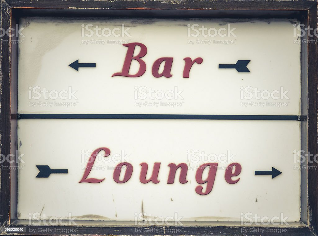Bar And Lounge Sign stock photo