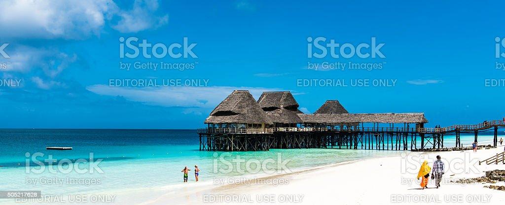 Bar and Restuarant in Zanzibar stock photo