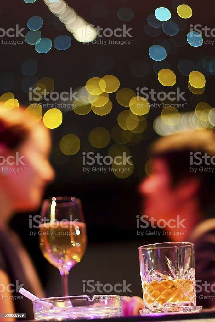 Bar and whiskey alcohol stock photo