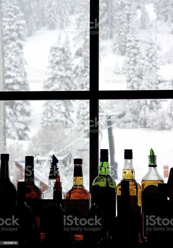 Bar at the ski resort royalty-free stock photo