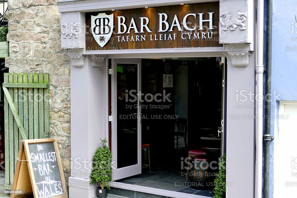 Bar Bach, Caernarfon. stock photo