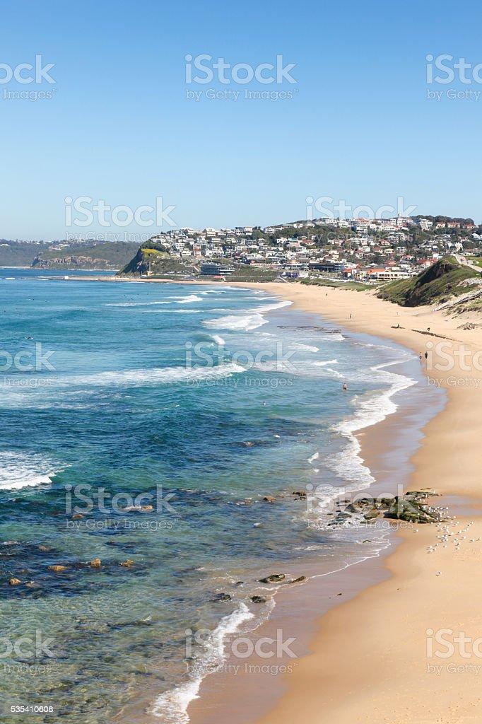 Bar Beach - Newcastle Australia stock photo