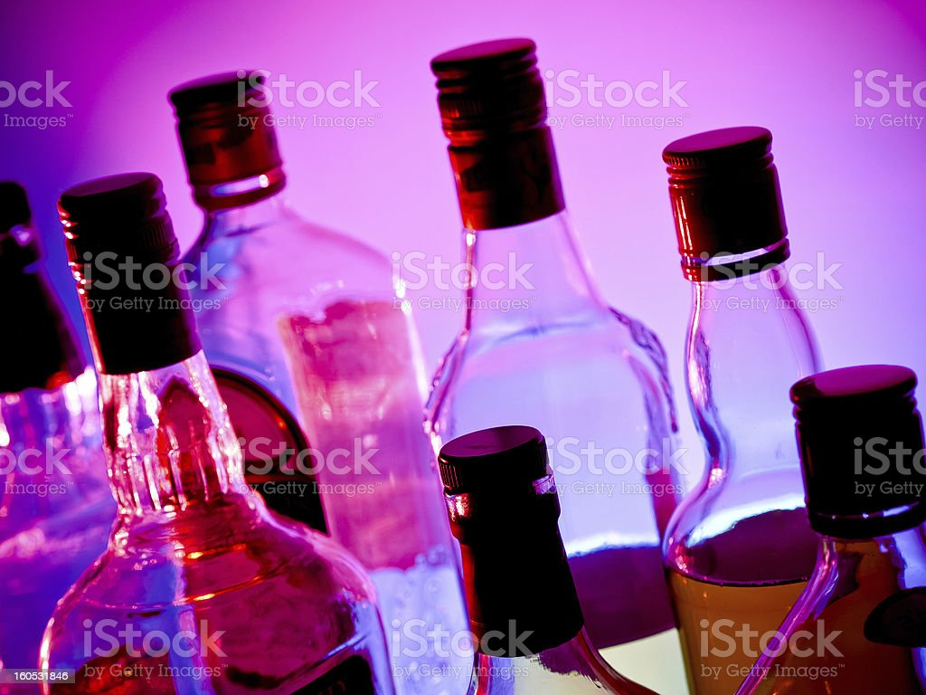 Bar bottles royalty-free stock photo