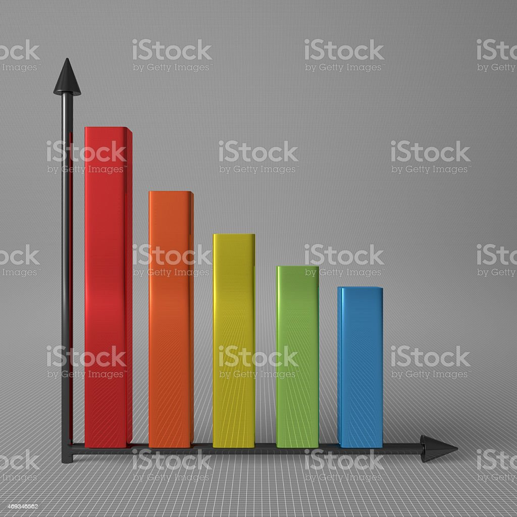 Bar chart with axis stock photo