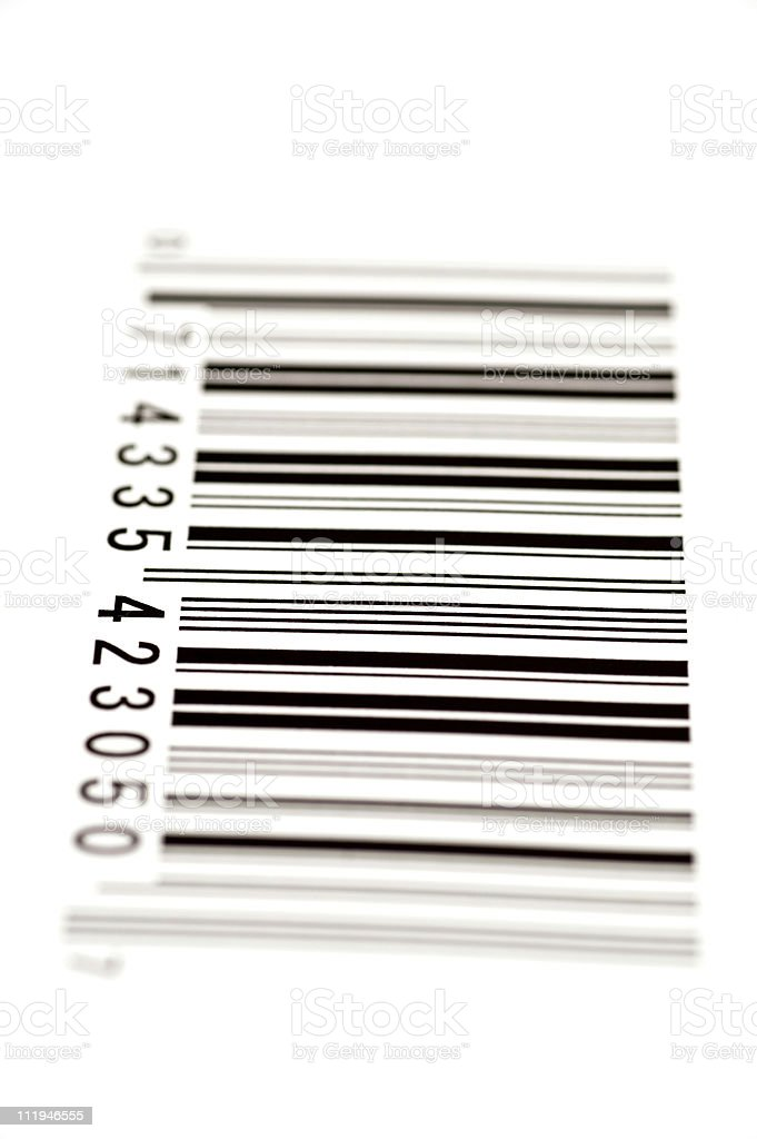Bar Code From The Side With Shallow DOF royalty-free stock photo