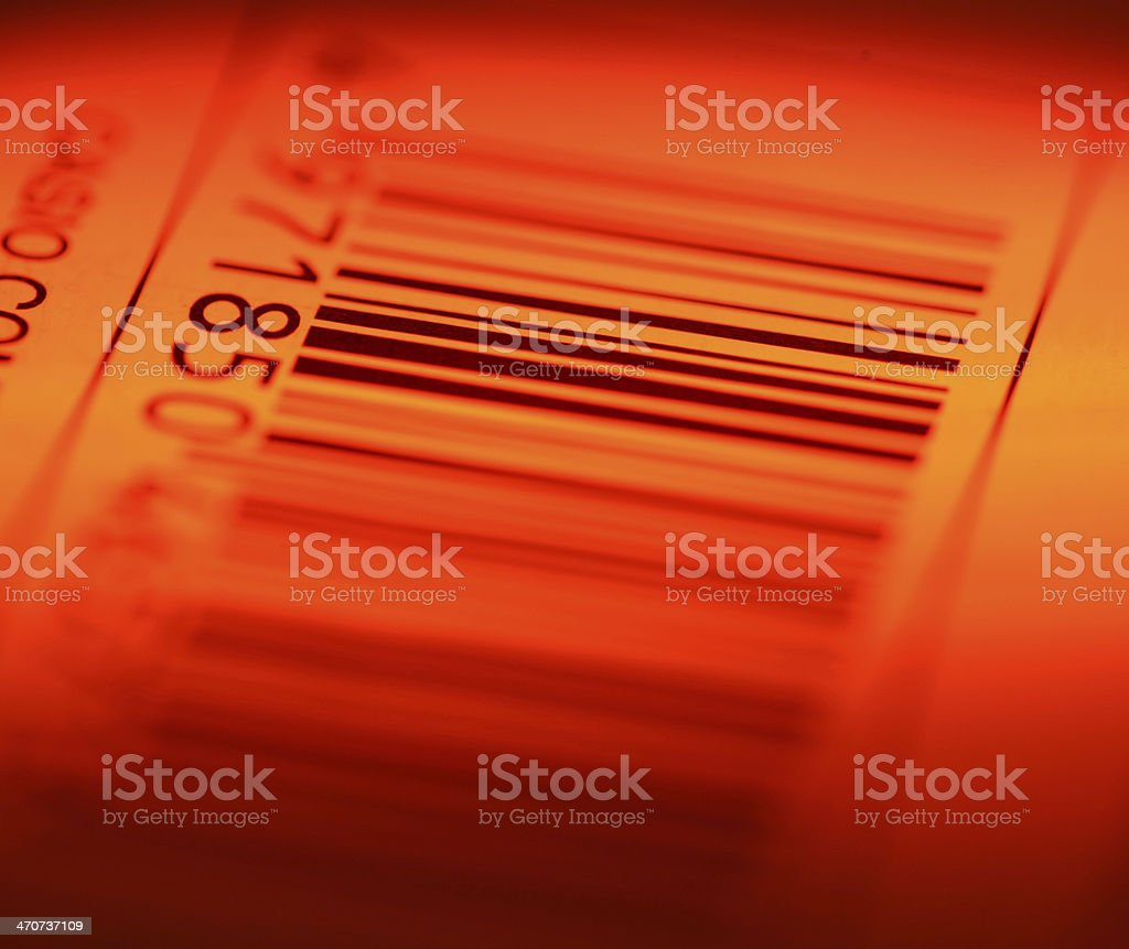 Bar code label stock photo