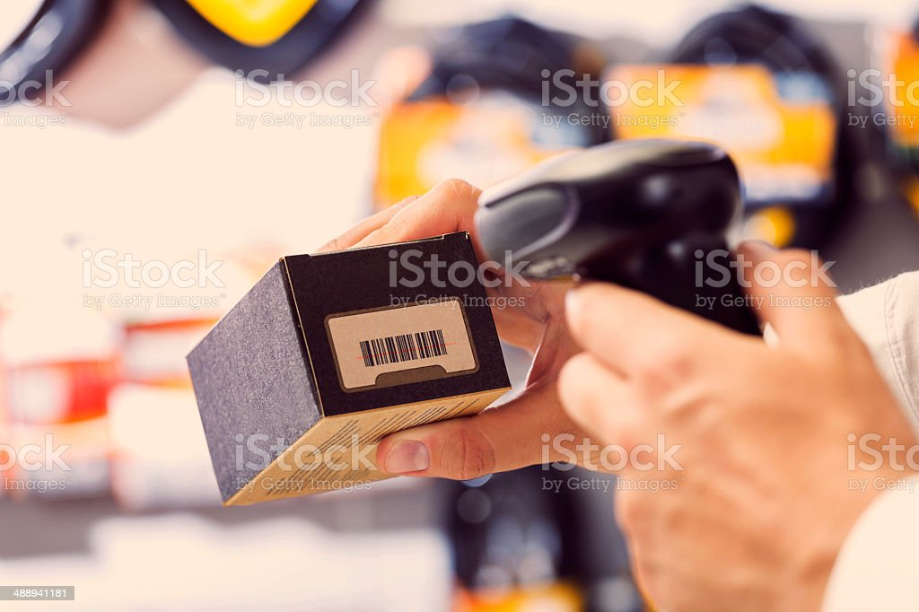 Bar Code Reader stock photo
