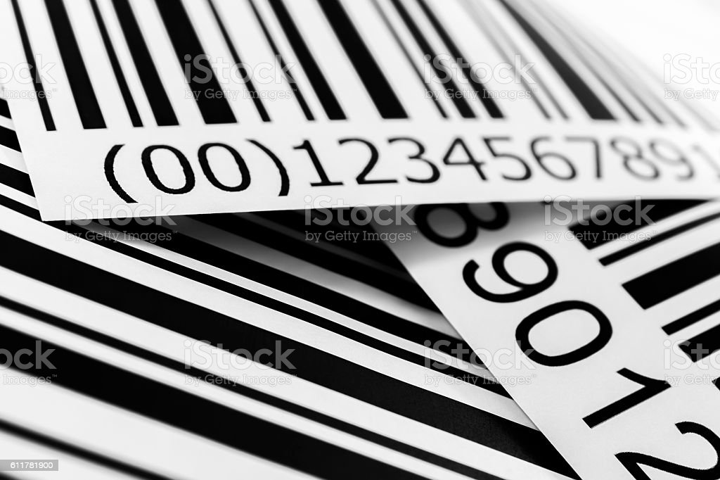 Bar Codes Close Up stock photo