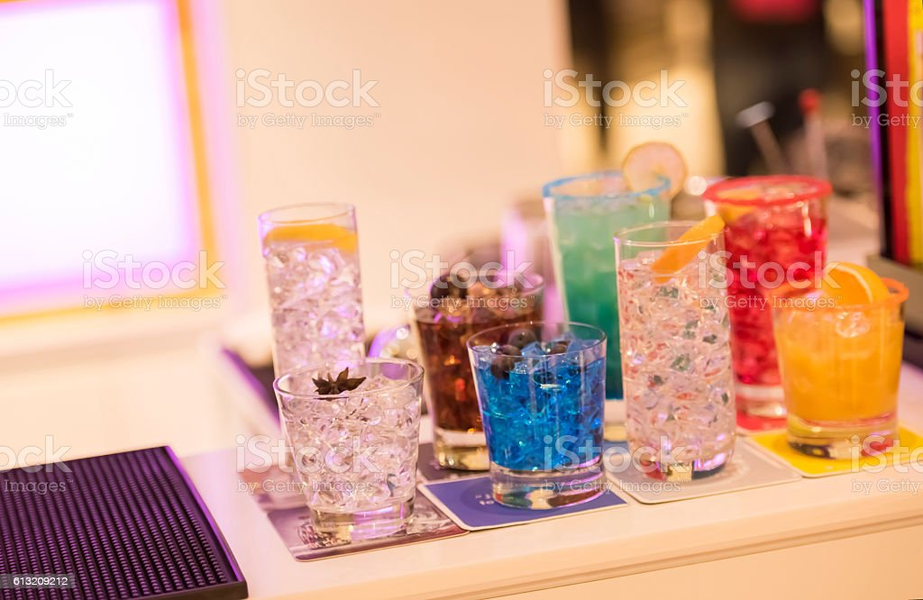 Bar counter stock photo