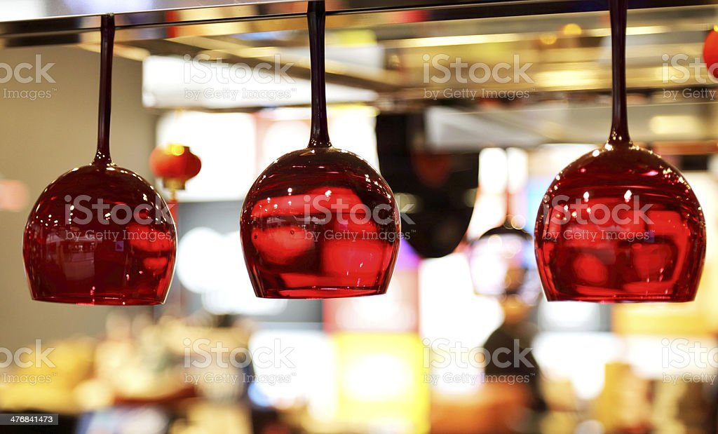 Bar down the glass, used for decoration stock photo