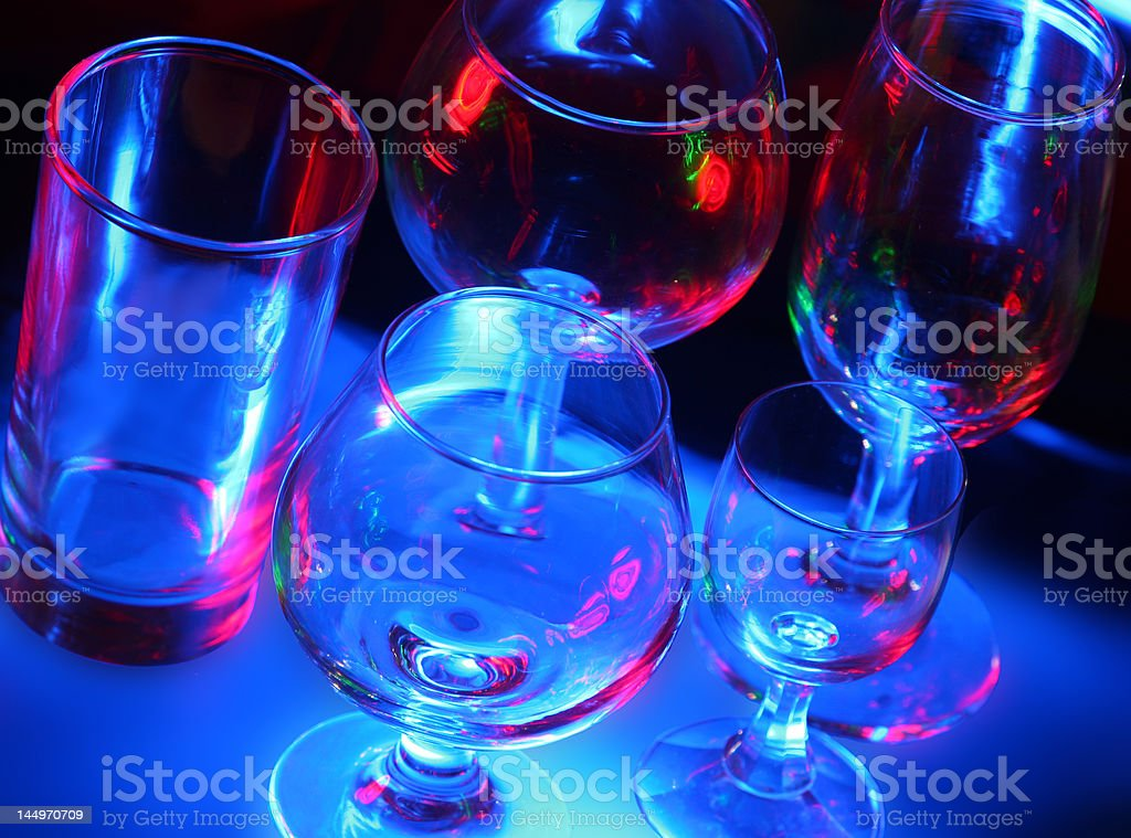 Bar Glasses 2 royalty-free stock photo