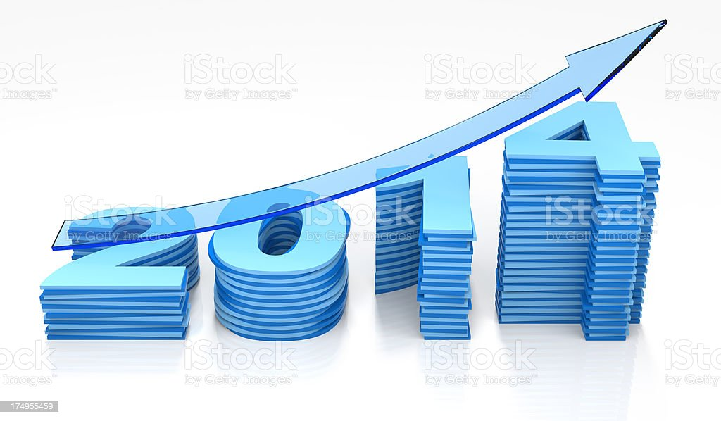 Bar Graph 2014 royalty-free stock photo