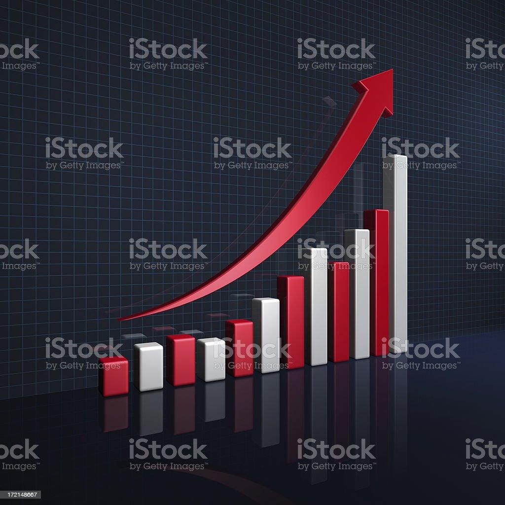 Bar Graph (Christmas Theme) royalty-free stock photo
