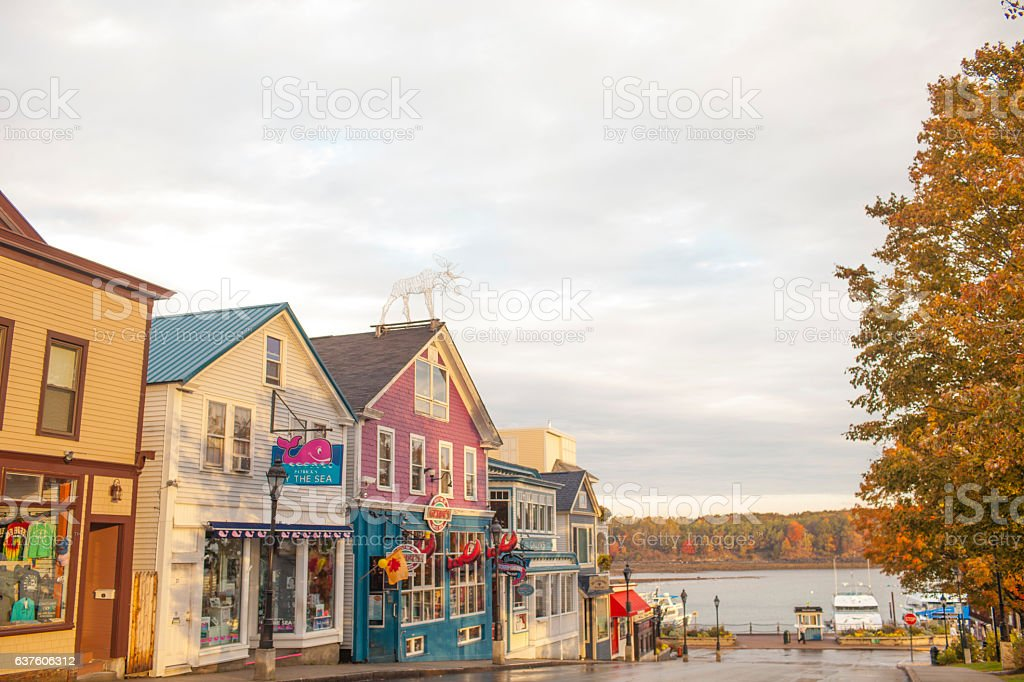 Bar Habor Downtown stock photo