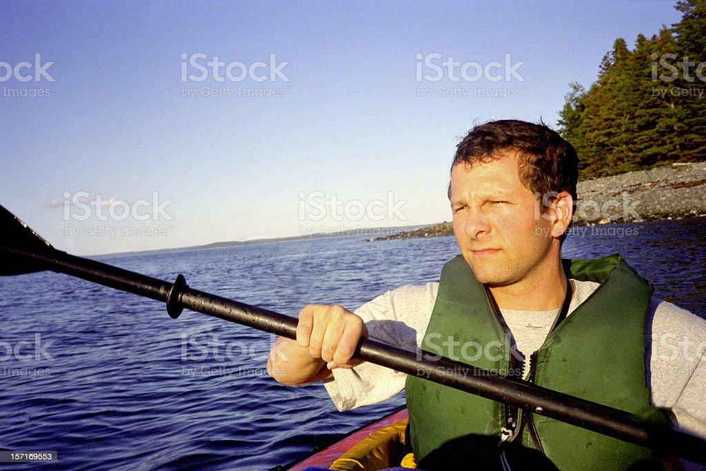 Bar Harbor kayaker royalty-free stock photo