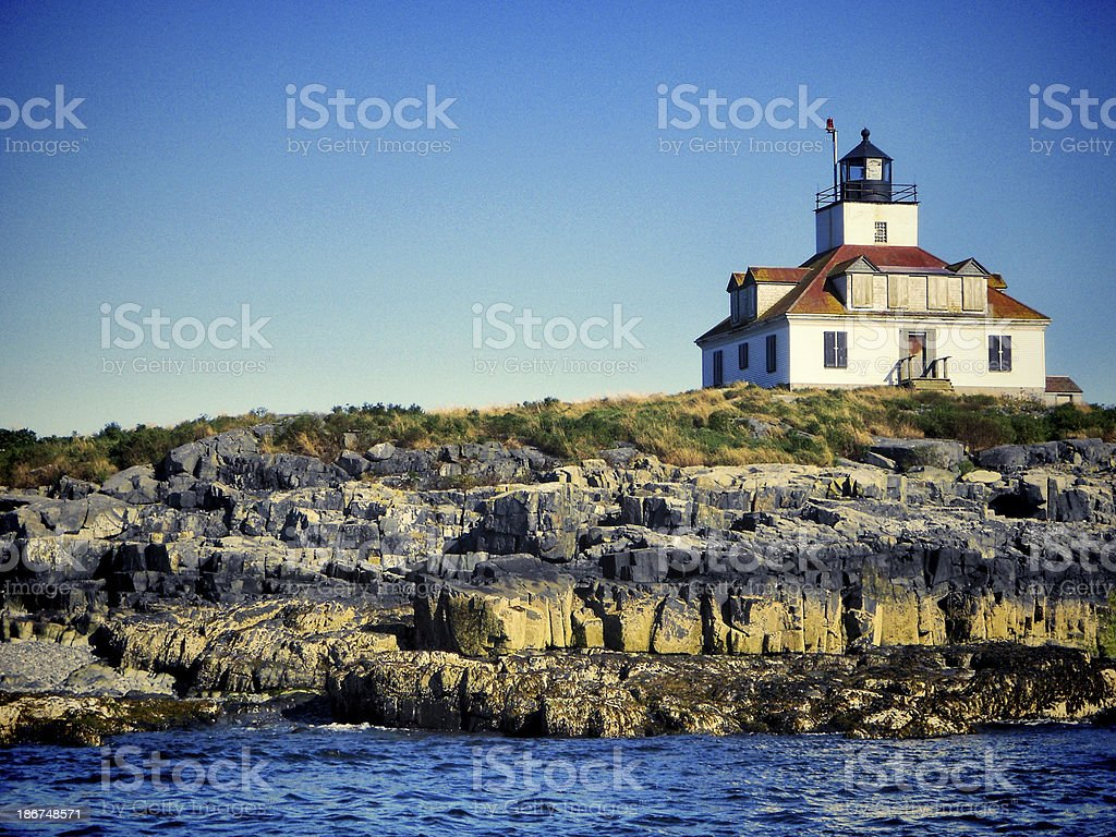 Bar Harbor Lighthouse stock photo