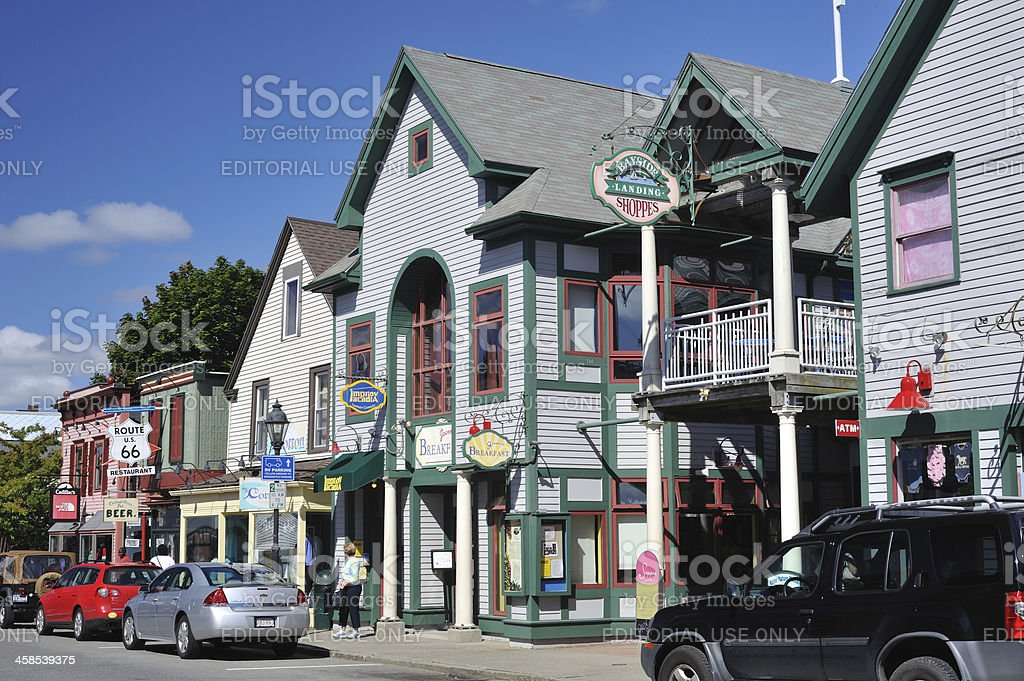 Bar Harbor Street stock photo