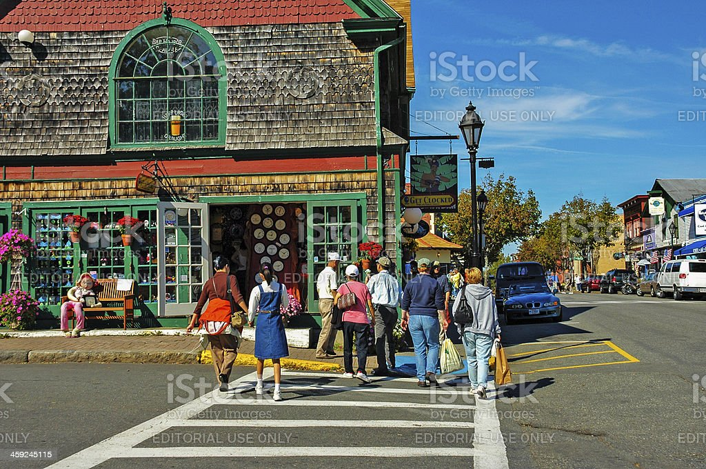 Bar Harbor Visitors stock photo