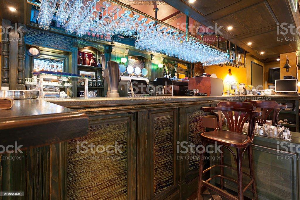 Bar in a modern cafe stock photo