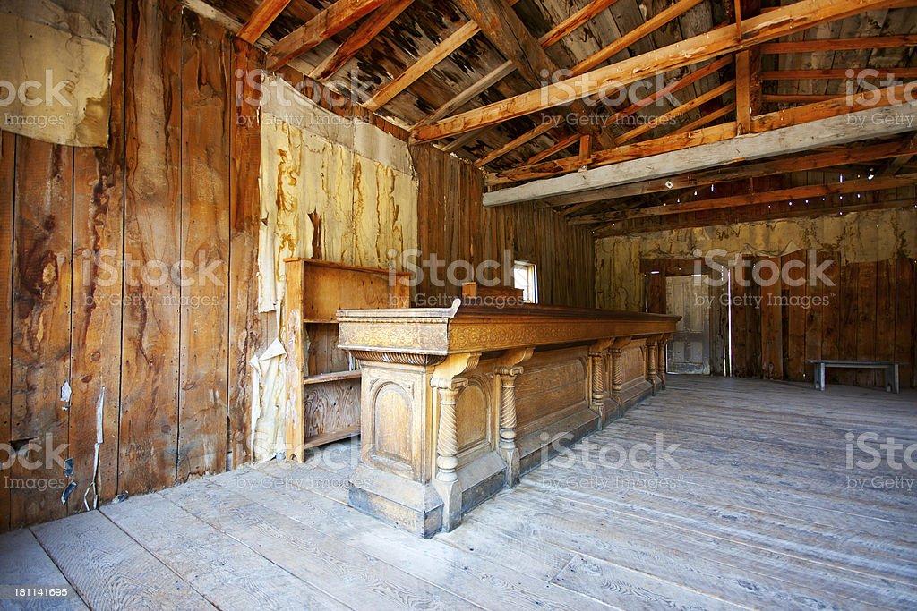 Bar in Bannack Montana Ghost Town stock photo