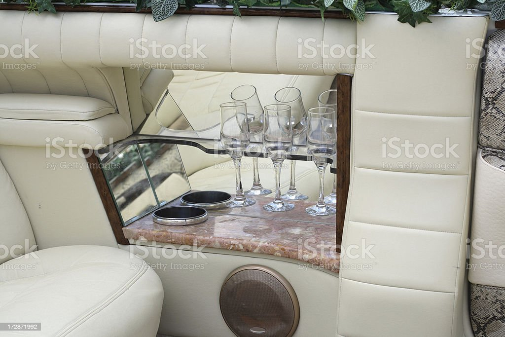 Bar in the limousine. royalty-free stock photo