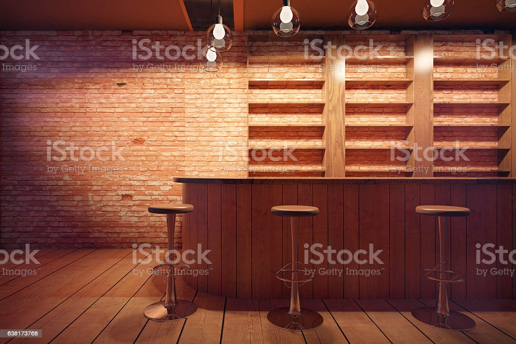 Bar interior stock photo