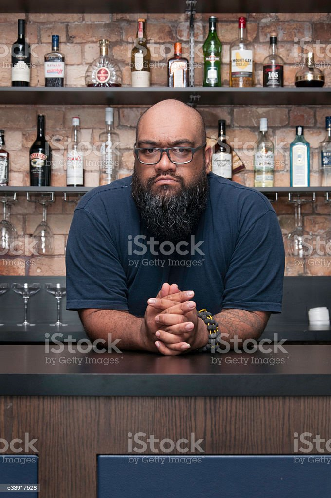 Bar Keep stock photo