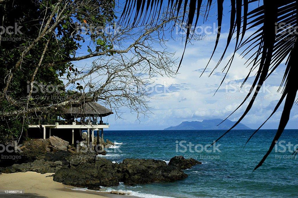 Bar kiosk on the beach royalty-free stock photo