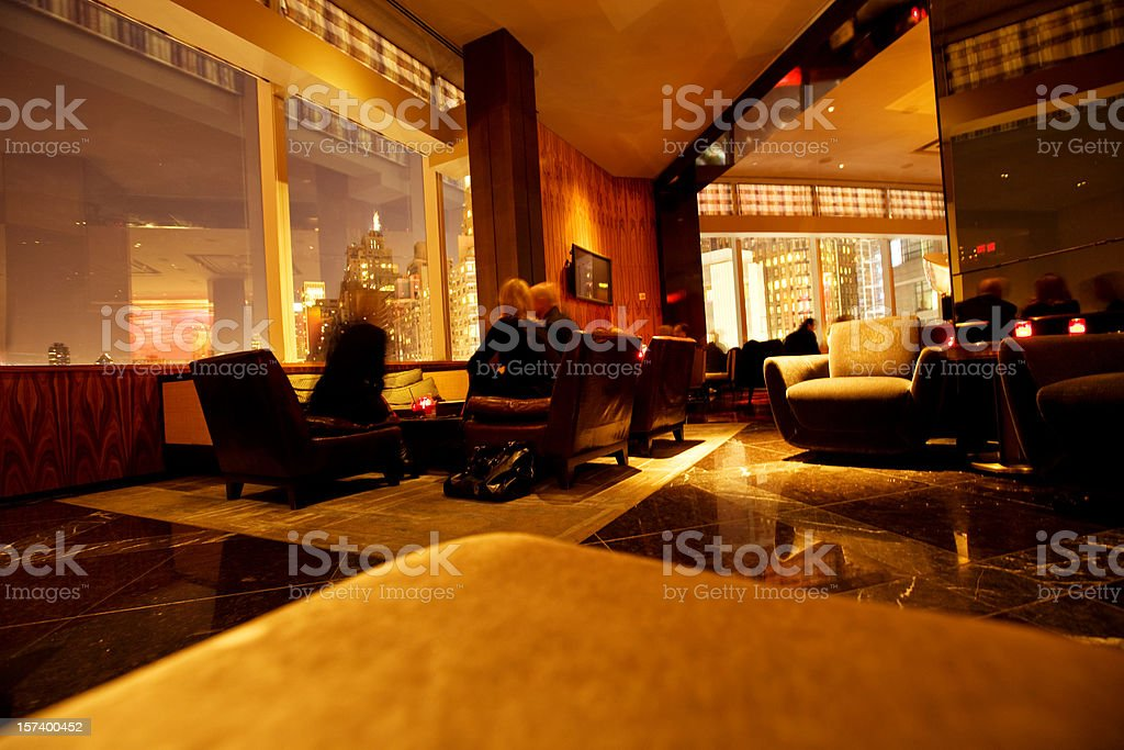 Bar Lounge NYC stock photo