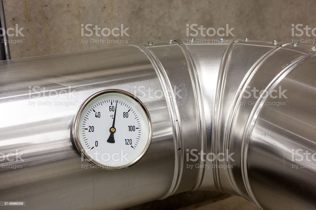 bar meter of water pipes stock photo