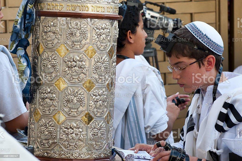 Bar Mitzvah at Western Wall stock photo