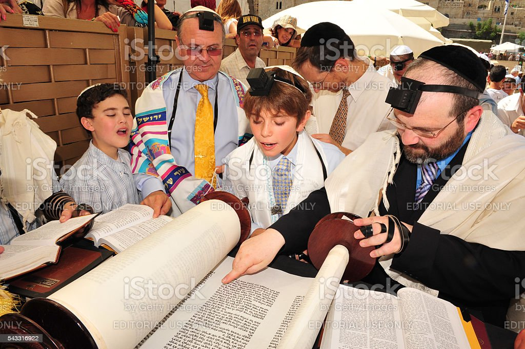 Bar Mitzvah - Jewish coming of age ritual stock photo