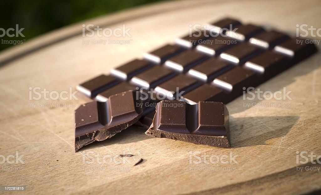 Bar of Dark Chocolate Candy royalty-free stock photo