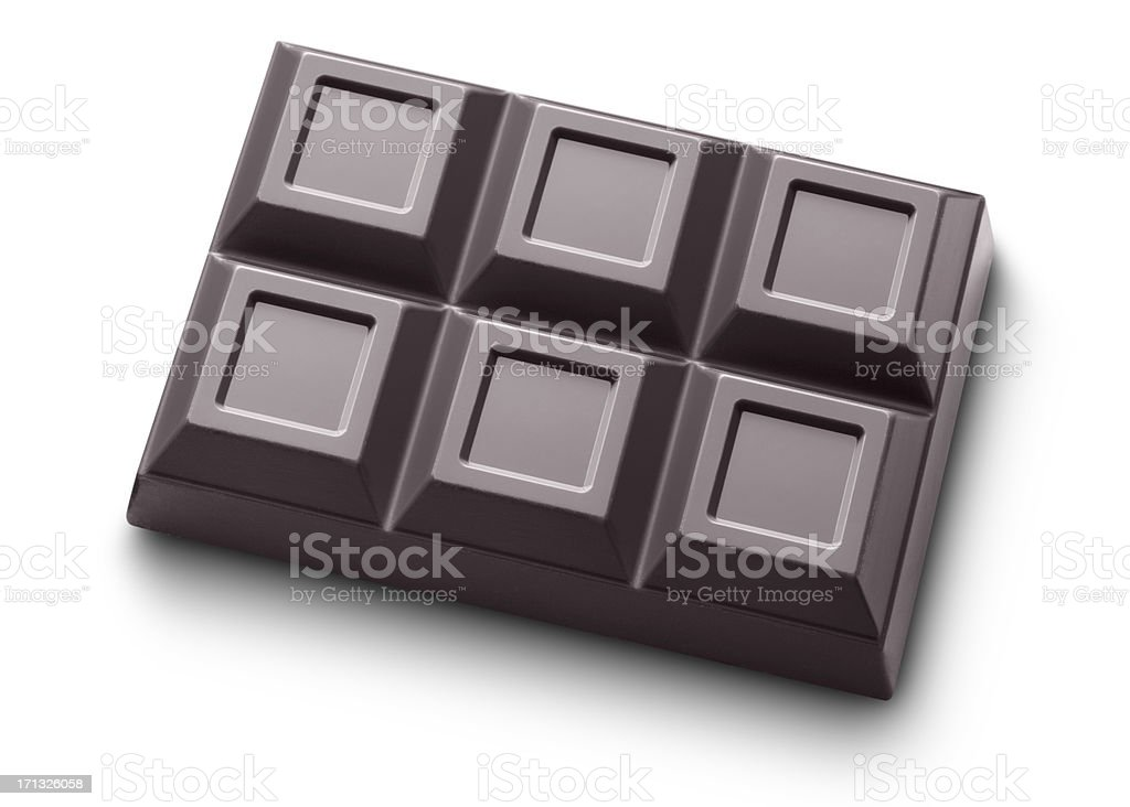 Bar of dark chocolate royalty-free stock photo