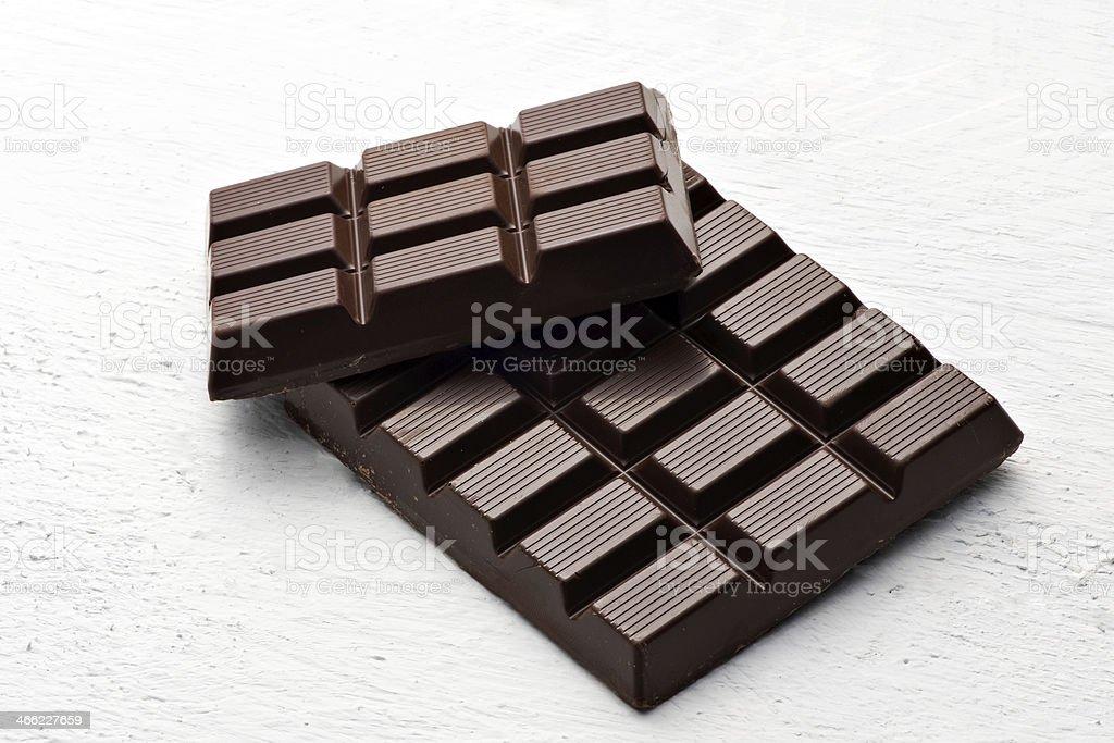 Bar of dark chocolate stock photo