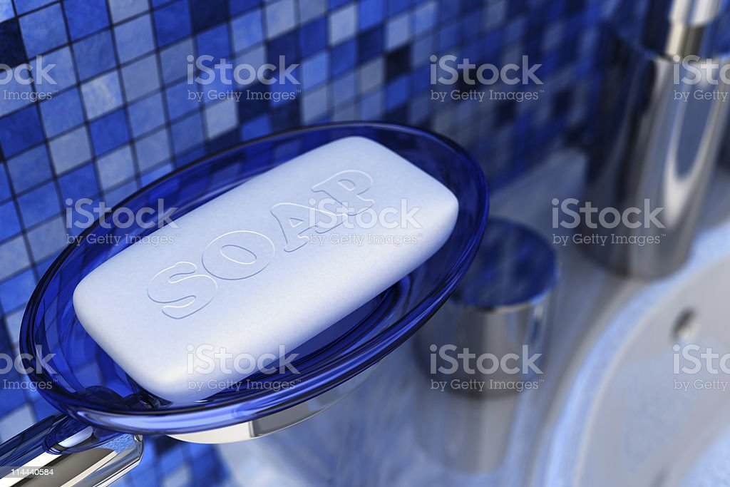 Bar of soap royalty-free stock photo