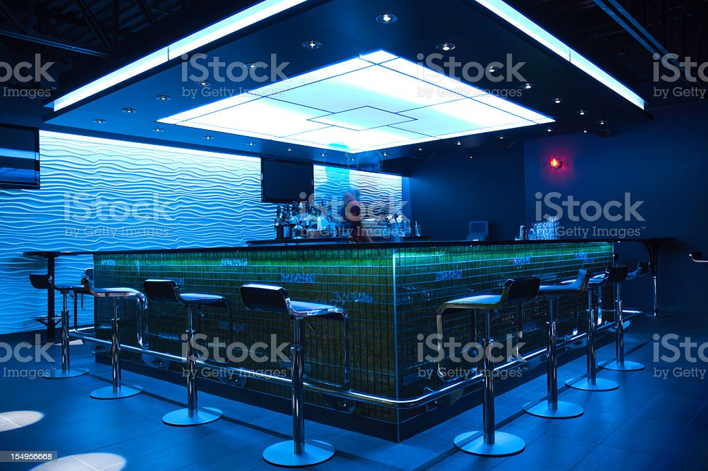 Bar Photo Shoot - Spacious blue stock photo