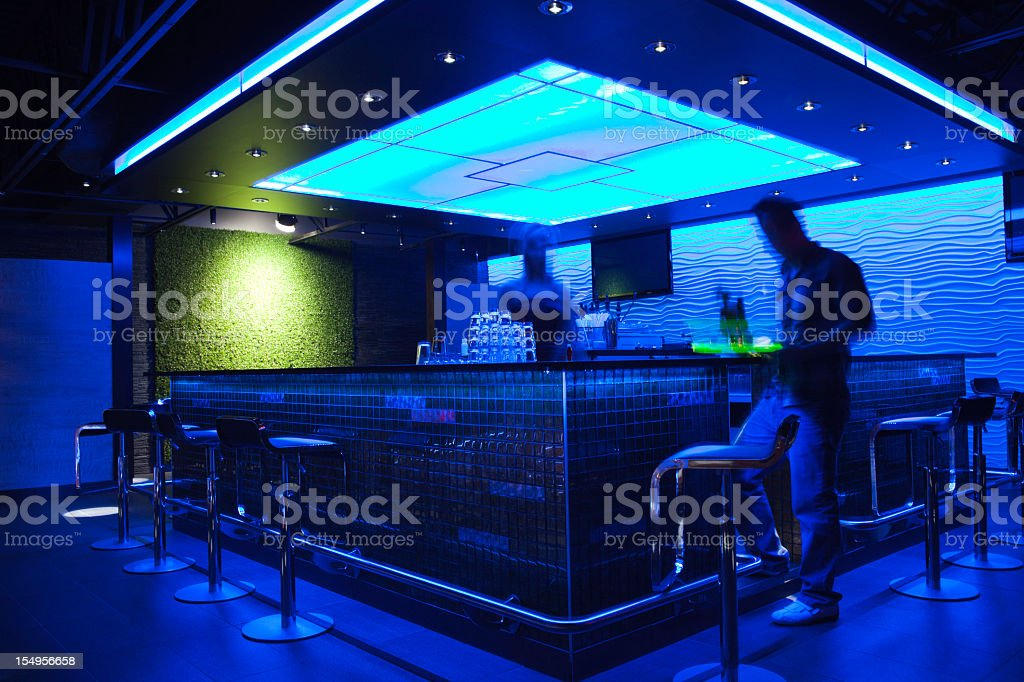 Bar Photo Shoot - Spacious with employee stock photo