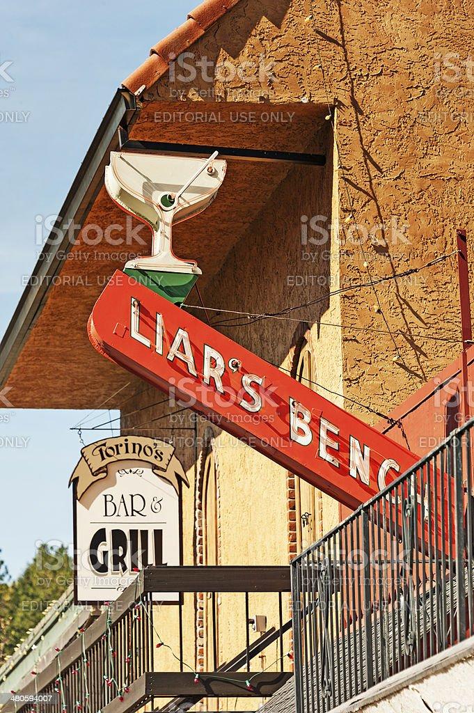 Bar signs stock photo