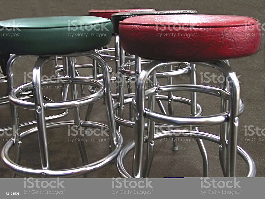Bar Stools royalty-free stock photo