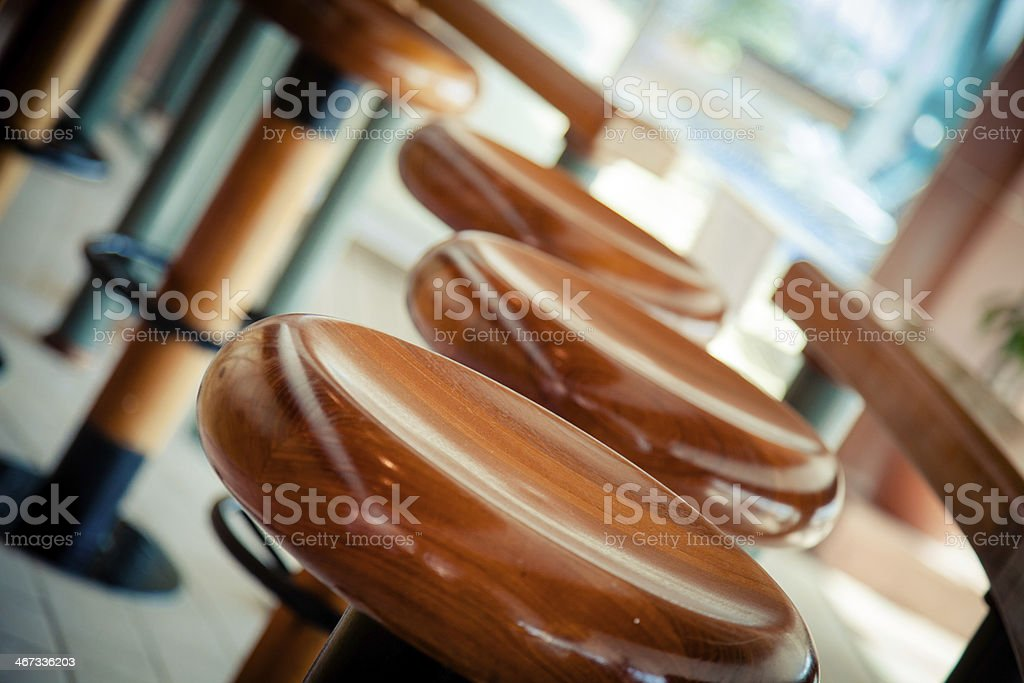 Bar stools stock photo