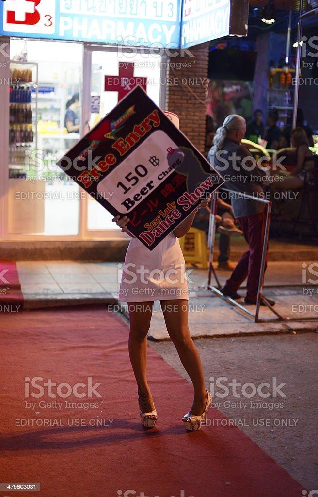 Bar Street Of Phuket stock photo
