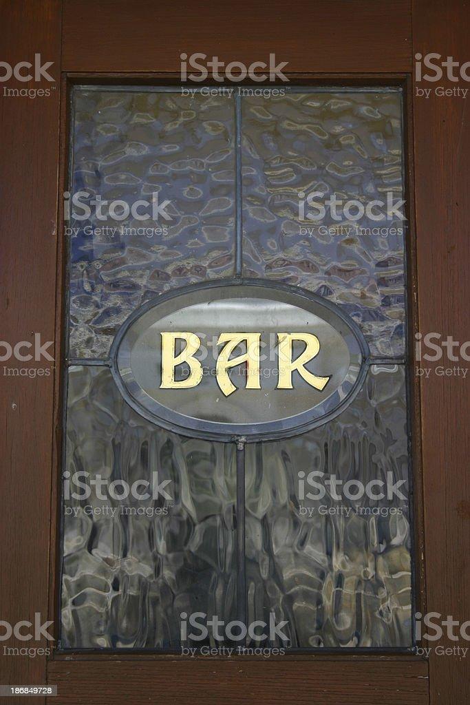 Bar Window royalty-free stock photo