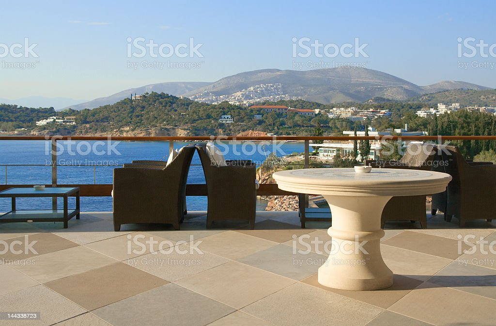 Bar with a view royalty-free stock photo
