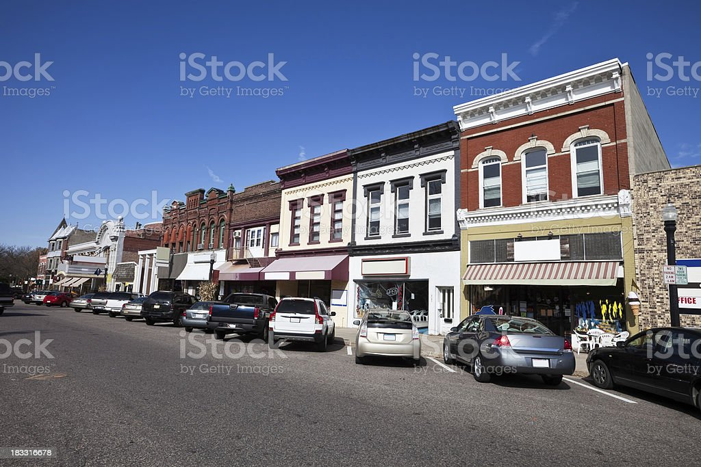 Baraboo in Sauk County, Wisconsin stock photo