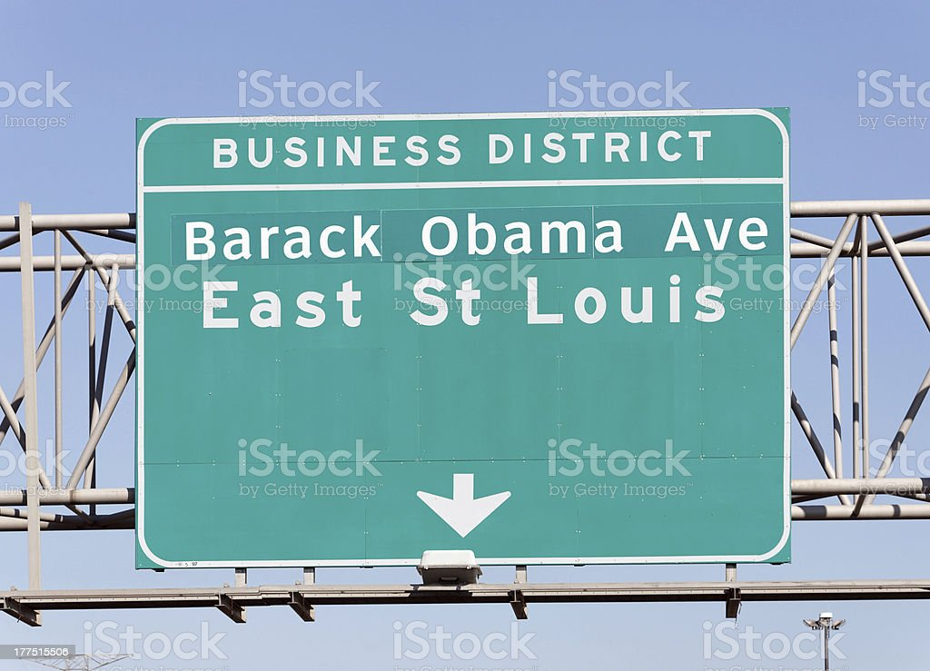 Barack Obama Avenue stock photo