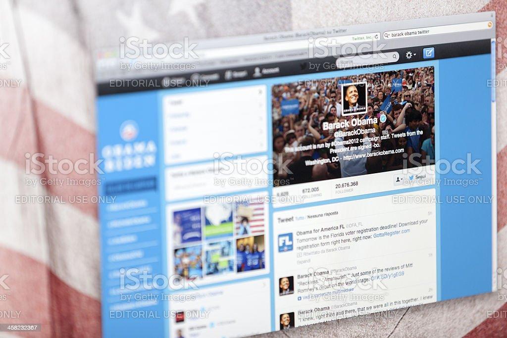 Barack Obama Twitter Fan Page stock photo