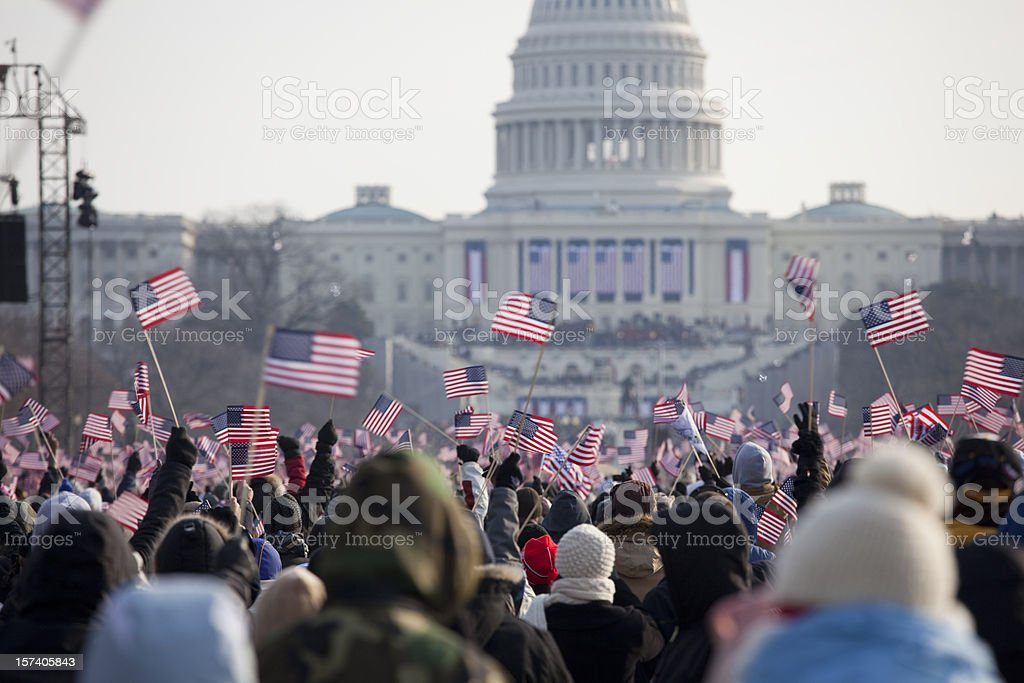 Barack Obama's Presidential Inauguration at Capitol Building, Washington DC royalty-free stock photo