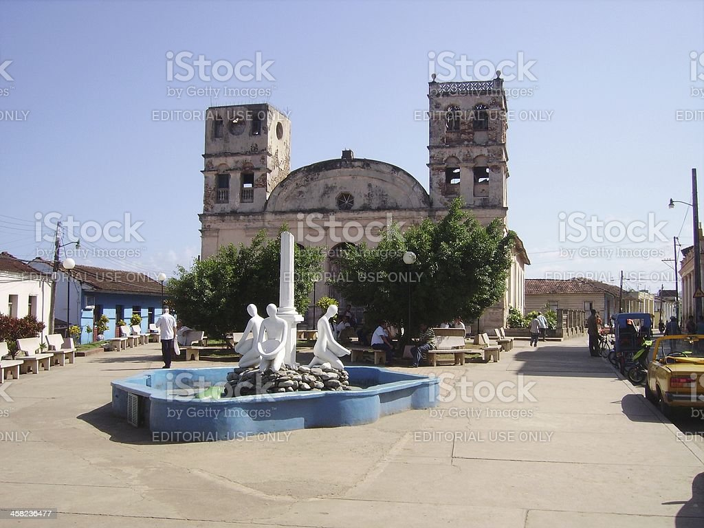 Baracoa, Cathedral de Nuestra Señora de la Asunción, Cuba royalty-free stock photo